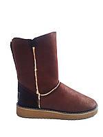 Женские кожаные модные коричневые угги, ugg M.KraFVT