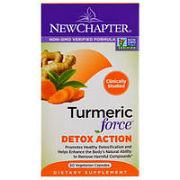 New Chapter, Turmeric Force Detox Action, 60 Veggie Caps, NCR-90121