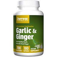 Jarrow Formulas, Чеснок и Имбирь, 700 мг, 100 капсул, JRW-14012
