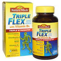 Nature Made, Тройная гибкость, тройная сила с витамином D3, 120 таблеток, NDM-01158