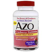 Azo, Клюквенный жевательный мармелад, со вкусом ягод, 40 жевательных мармеладок, AZO-76009