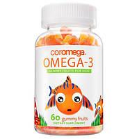 Coromega, Омега-3, Фруктовые жевательные конфеты для детей, 60 жевательных конфет, ERB-46003