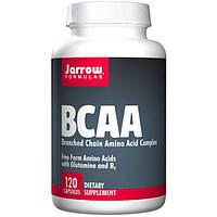 Jarrow Formulas, BCAA, комплекс аминокислот с разветвлённой цепью, 120 капсул, JRW-15053
