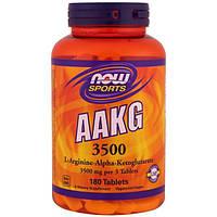 Now Foods, Аргинин альфа-кетоглутарат 3500 для спортсменов, 180 таблеток, NOW-00044