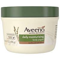 """Aveeno, """"Природные активные компоненты"""", увлажняющий йогурт для тела, для ежедневного использования, 7 жидких унций (198 г), AVO-16823"""