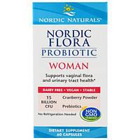 Nordic Naturals, Пробиотик Nordic Flora Woman, 60 капсул, NOR-01677