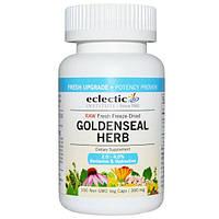 Eclectic Institute, Трава гидрастиса (желтокорня), сырая, 300 мг, 100 вегетарианских капсул без ГМО, ECL-30045