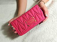 Большой женский кошелек Mark Jacobs (копия)  Розовый