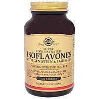 Solgar, Изофлавоны с генистеином и даидзеином, 120 таблеток, SOL-01459