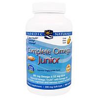 Nordic Naturals, Комплексные витамины Omega со вкусом лимона для детей и подростков, 500 мг, 180 жевательных гелевых капсул, NOR-02775