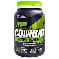 MusclePharm, Combat, 100% сывороточный протеин, клубника, 2 фунта (907 г), MSF-04121