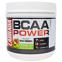 """Labrada Nutrition, """"Сила BCAA"""", аминокислоты с разветвленными боковыми цепями (BCAA), со вкусом клубники и киви, 15,06 унций (427 г), LAB-10032"""