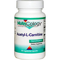 Nutricology, Ацетил-L-карнетин, 60 вегетарианских капсул, ARG-50650