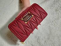 Женкий кошелек Mark Jacobs (копия ) бордовый + ремень на руку, фото 1