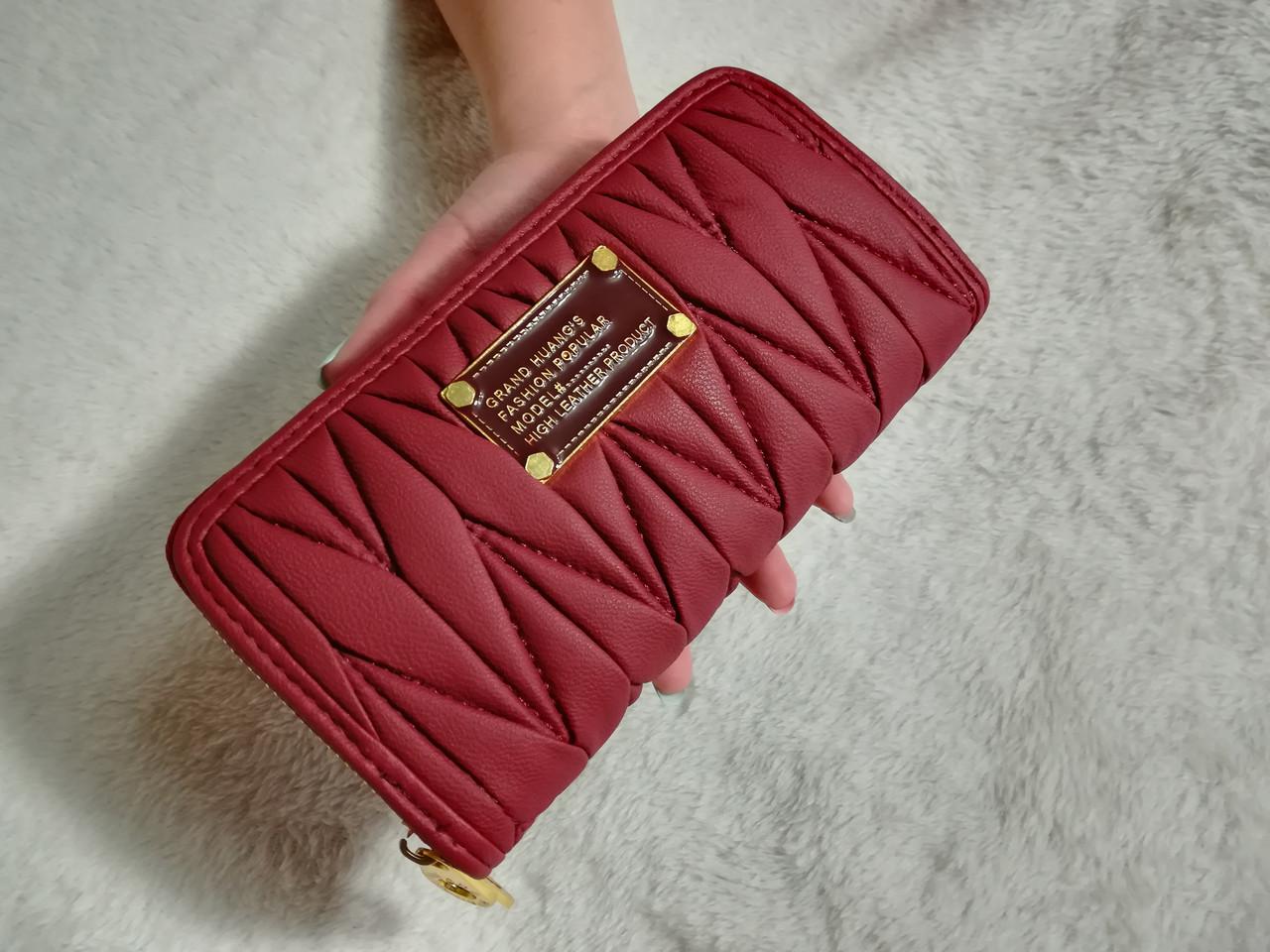 Женкий кошелек Mark Jacobs (копия ) бордовый + ремень на руку