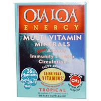 Ola Loa, Мульти витамины и минералы для энергии с тропическим вкусом, 30 пакетов, (7.1 г) каждый, OLA-10002