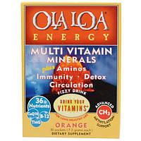 Ola Loa, Мульти витамины и минералы для энергии с апельсиновым вкусом, 30 пакетов, (7.2 г) каждый, OLA-10022