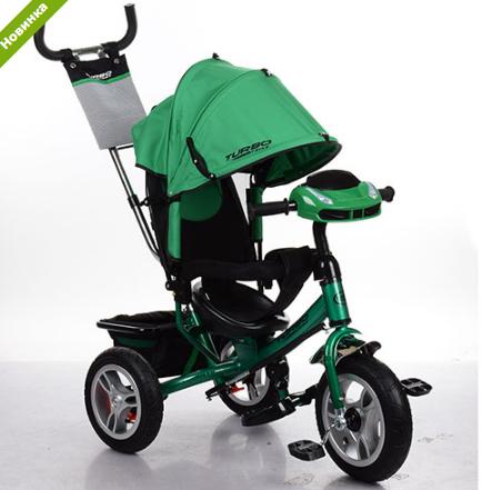 Велосипед трехколесныйM 3115HA-N4 зеленый фара+надувные колеса