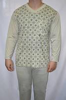 Пижама мужская размер M (44-46) зеленая 100% коттон