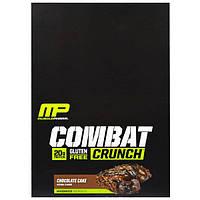 MusclePharm, Гибридные серии, Combat Crunch, Шоколадный торт, 12 баров, 2,22 унции (63 г) Каждый, MSF-52632