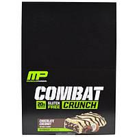 MusclePharm, Combat Crunch, шоколадный кокос, 12 батончиков, (63 г) каждый, MSF-04841