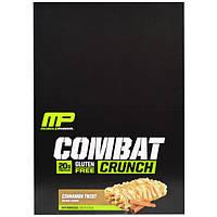 MusclePharm, Combat Crunch, корица, 12 батончиков, 63 г каждый, MSF-10517