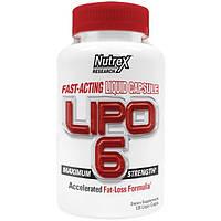 Nutrex Research Labs, Lipo 6, максимальная сила, 120 жидкостных капсул, NRX-00048