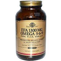 Solgar, Незаменимая жирная кислота, Омега 3-6-9, 1300 мг, 120 капсул в желатиновой оболочке, SOL-02028