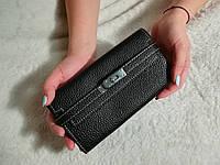 Женский кошелек Hermes черный