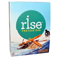 Rise Bar, Протеин + Батончик с семенами подсолнечника и корицей, 12 шт по 60 г, RBA-30819