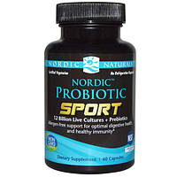 Nordic Naturals, Пробиотик Спорт, 60 капсул, NOR-01673