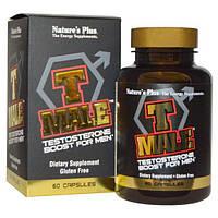 Nature's Plus, T Male, стимулятор тестостерона для мужчин, 60 капсул, NAP-04871