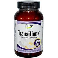 Pure Essence, Transitions, Растительный препарат для менопаузы, 60вегетарианских капсул, PUR-00701