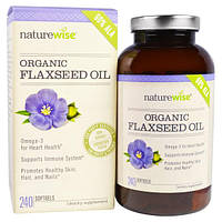 NatureWise, Органическое льняное масло, 240 мягких капсул, NTW-88731