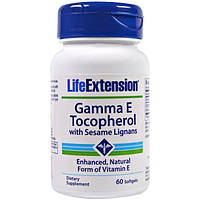 Life Extension, Gamma E Tocopherol, with Sesame Lignans, 60 Softgels (Discontinued Item), LEX-75906