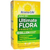Renew Life, Полноценная флора Пробиотик, 30 миллиардов, 30 вегетарианских капсул, REN-15674