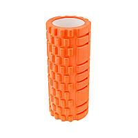 Роллер массажный 33*14см  оранжевый