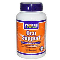 Now Foods, Препарат для глаз Ocu Support, 120 капсул, NOW-03302