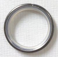 Кольцо тихое+крючок д. 16 мм, хром