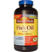 Nature Made, Рыбий жир, 1200 мг, 300 жидких капсул, NDM-02586