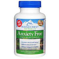 Ridge Crest Herbals, Комплекс для избавления от тревоги и стресса, 60 веганских капсул, RDH-00320