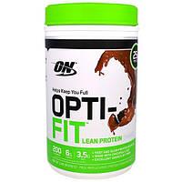 Optimum Nutrition, Opti-Fit Lean Protein Shake, Chocolate, 1.83 lb (832 g), OPN-05521