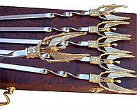 Шампуры Жар-птица набор шампуров в кейсе ручная работа 6шт