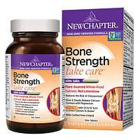New Chapter, Bone Strength Take Care, комплекс по уходу за костными тканями, 60 плоских таблеток, NCR-00407