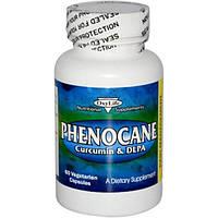 OxyLife, Phenocane, куркумин и DL фенилаланин, 60 растительных капсул, OXY-01901