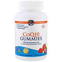 Nordic Naturals, Гелевые конфетки CoQ10, клубника, 100 мг., 60 гелевых конфеток, NOR-30185
