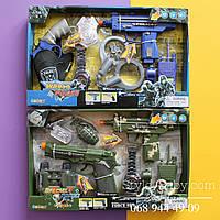 Набор Полицейский: автомат, пистолет, бинокль, значок, в коробке 38х24х4 см