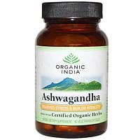 Organic India, Органическая ашвагандха, 90 растительных капсул, ORI-00016