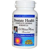 Natural Factors, Здоровье предстательной железы, комплексная травяная формула, 60 капсул, NFS-03512