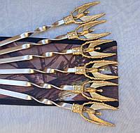 Шампура Жар-птица набор шампуров в чехле из плотной ткани 6шт